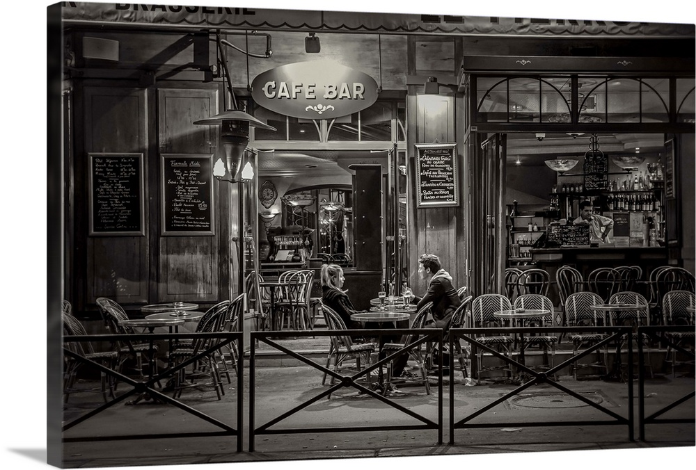 Premium Thick-Wrap Canvas Wall Art entitled Paris cafe at ...