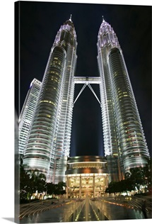 Petronas Towers after dark, Kuala Lumpur, Malaysia