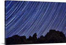 Star trails at Aguereberry Point, Death Valley National Park, California