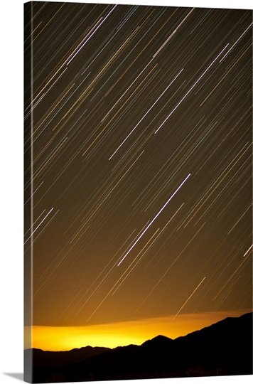 Star trails over Las Vegas