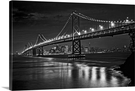 The Oakland Bay Bridge After Dark San Francisco