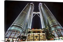 The Petronus towers after dark, Kuala Lumpur, Malaysian
