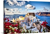 The town of Oia, Santorini, Greece