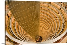 View from the Hyatt Hotel, inside the Jin Mao Tower, Shanghai, China