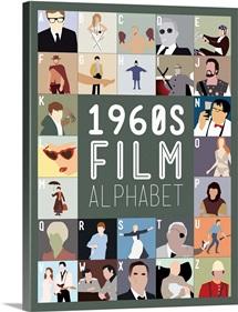 1960's Film Alphabet, Minimalist Art Poster