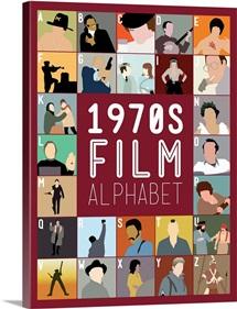 1970's Film Alphabet, Minimalist Art Poster