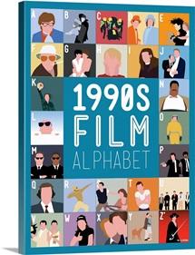 1990's Film Alphabet, Minimalist Art Poster