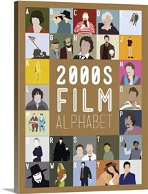 2000's Film Alphabet, Minimalist Art Poster