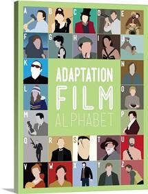 Adaptation Film Alphabet, Minimalist Art Poster