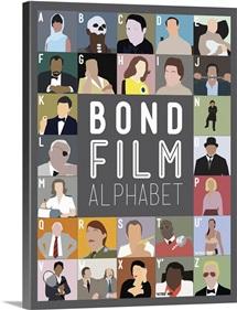 Bond Film Alphabet, Minimalist Art Poster