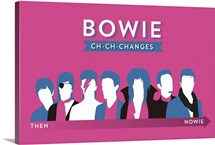Bowie, Ch-Ch-Changes, Then and Nowie Poster