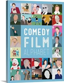 Comedy Film Alphabet, Minimalist Art Poster