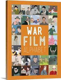War Film Alphabet, Minimalist Art Poster