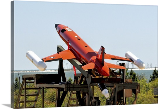 A BQM-167A Subscale Aerial Target is ready for launch