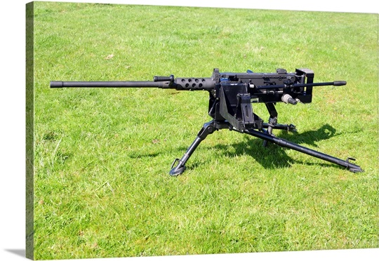 A Browning M2 .50 caliber heavy machine gun