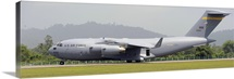 A C-17 Globemaster III of the U.S. Air Force at Langkawi Airport