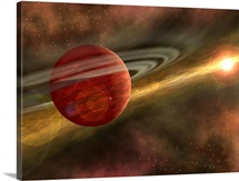 A possible newfound planet spins through a clearing