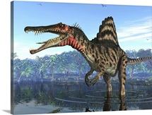 A Spinosaurus searches for its next meal