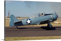 A T-6 Harvard trainer aircraft in Midland, Texas
