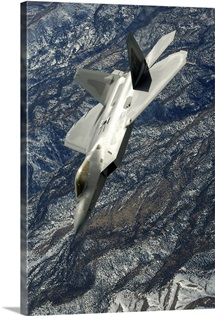 An F22 Raptor in flight