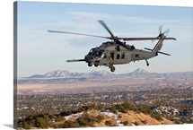 An HH-60G Pave Hawk flies a low level route over New Mexico
