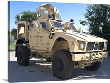 An Oshkosh M ATV Mine Resistant Ambush Protected all terrain vehicle