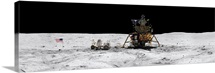 Apollo 16 landing site in the lunar highlands