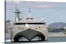 Bow on view of the US Navy experimental High Speed Vehicle 2 HSV2 Swift