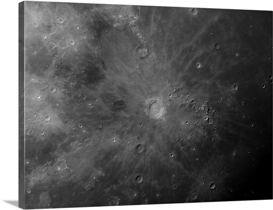 Close up view of Copernicus, an impact crater on the moon
