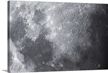Close up view of the Moon
