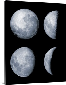 Four phases of the moon