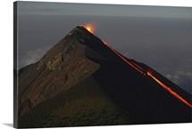Fuego lava flow Antigua Guatemala