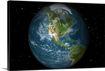 Full Earth view showing North America