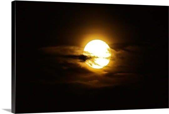 Full moon in the night sky Sobreda Portugal