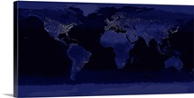 Global View of Earths City Lights