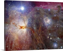 Horsehead Nebula region in infrared and visible light