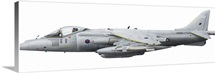 Illustration of a British Aerospace Harrier GR9 aircraft