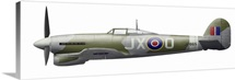 Illustration of a Hawker Typhoon of the Royal Air Force
