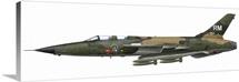 Illustration of an F-105F Thunderchief fighter-bomber