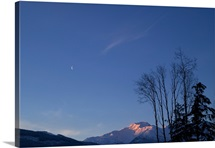 Moon and Alpenglow