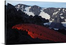 Mount Etna lava flow Sicily Italy