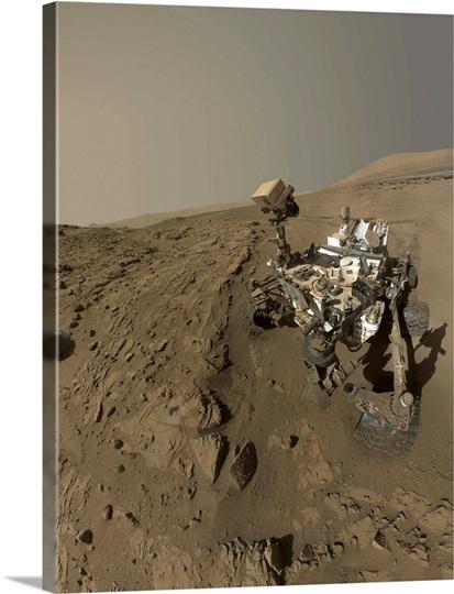 NASA's Curiosity Mars rover on planet Mars Photo Canvas ...