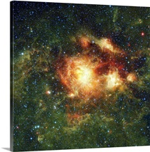 NGC 3603 a hot young star cluster in the Milky Way