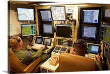 Operators control UAV's from a ground control station