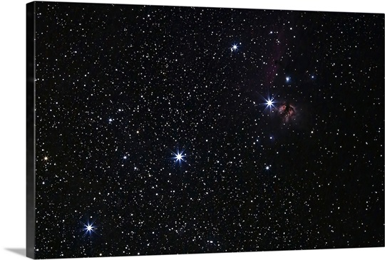 Orion's Belt, Horsehead Nebula and Flame Nebula