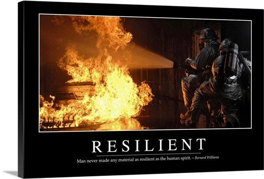 Resilient Inspirational Quote And Motivational Poster Photo Canvas Print Great Big Canvas