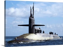 Sailors aboard the guided-missile submarine USS Georgia
