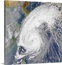 Satellite image of a typhoon
