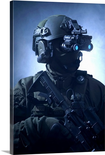 Special Operations Forces Soldier Equipped With Night