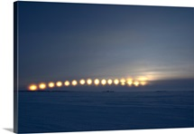 Sun movement from Dettah Ice Road Yellowknife Northwest Territories Canada